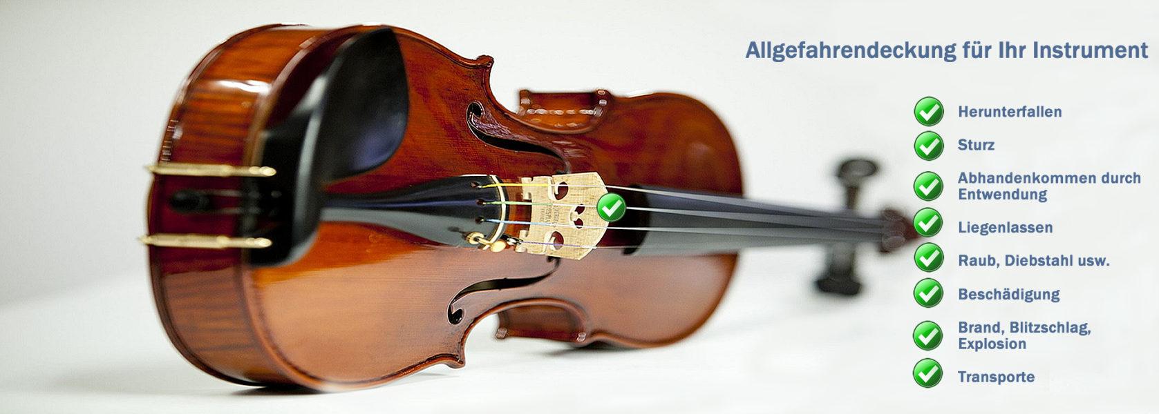 Die Musikinstrumente-Versicherung bietet Schutz bei Beschädigung oder Verlust Ihres Instrumentes